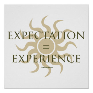 Expectation Experience Posters