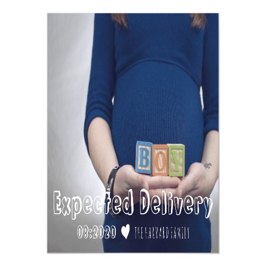 Expected Delivery Pregnancy Announcement Magnet