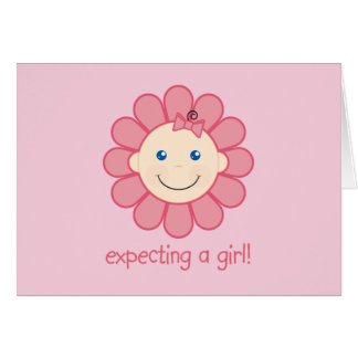 Expecting a Girl Greeting Card