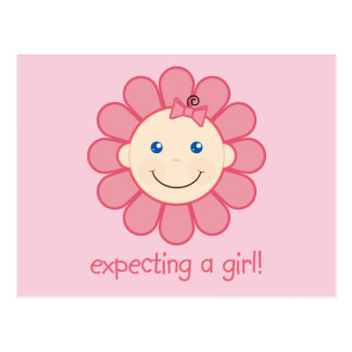 Expecting a Girl Postcard