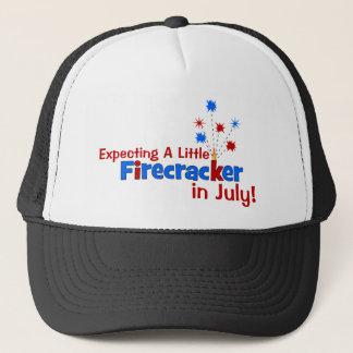 Expecting A Little Firecracker in July Trucker Hat
