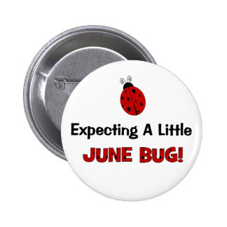 Expecting A Little June Bug Maternity 6 Cm Round Badge