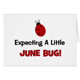 Expecting A Little June Bug Maternity Card