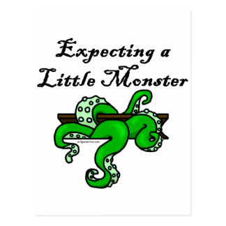 Expecting a little monster postcard