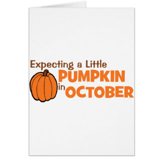 Expecting A Little Pumpkin In October Card