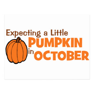 Expecting A Little Pumpkin In October Post Cards