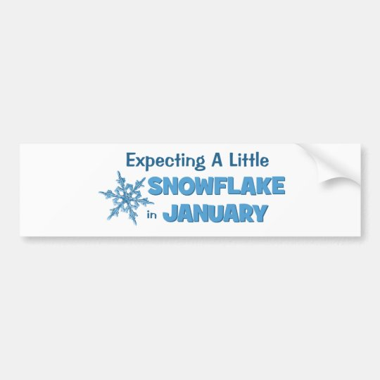 Expecting A Little Snowflake in January Maternity Bumper Sticker