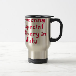 Expecting a special delivery in july coffee mug