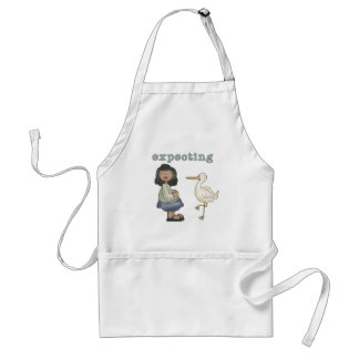 Expecting - African American Mom to Be and Stork Standard Apron