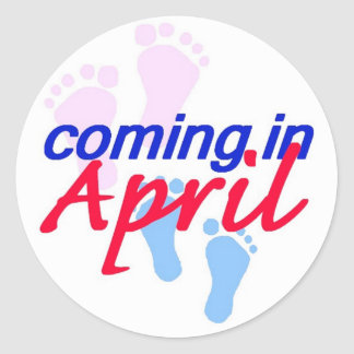 Expecting APRIL Sticker