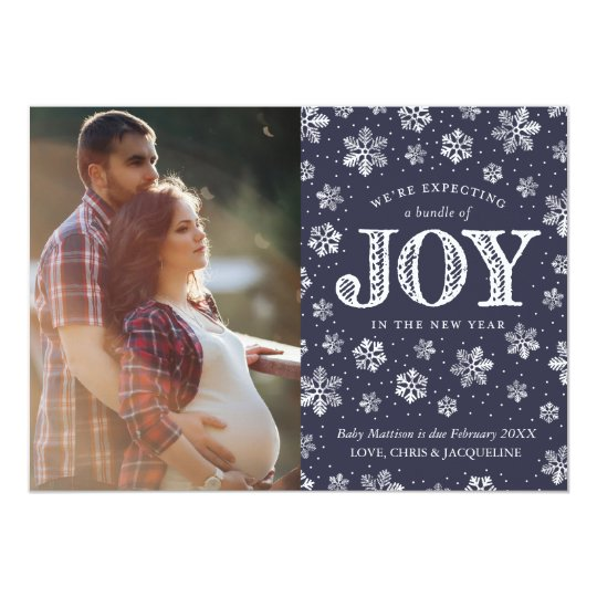 Expecting Joy Pregnancy Announcement Christmas