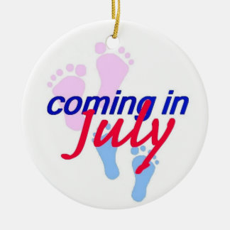 Expecting JULY Ornament