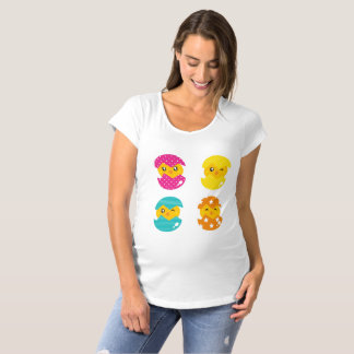 Expecting mother hatched eggs Maternity T-shirts