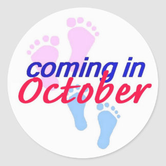 Expecting OCTOBER Sticker