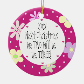 Expecting Our 1st Baby and It's a Girl-Christmas Christmas Ornament