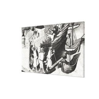 Expedition against the Island of Cipangu Canvas Print