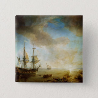 Expedition of Robert Cavelier de La Salle 15 Cm Square Badge