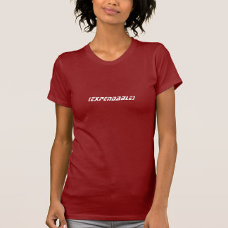 EXPENDABLE Red Babydoll T Shirt