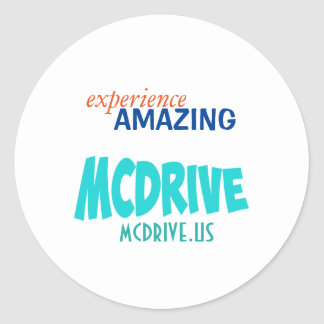 Experience Amazing: Acessories Line Round Sticker