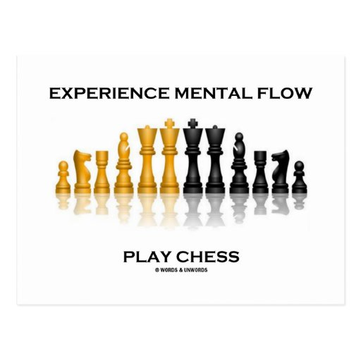 Experience Mental Flow Play Chess (Chess Set) Post Card