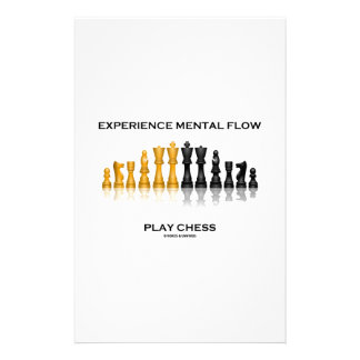 Experience Mental Flow Play Chess (Chess Set) Personalized Stationery
