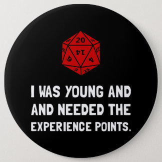 Experience Points 6 Cm Round Badge