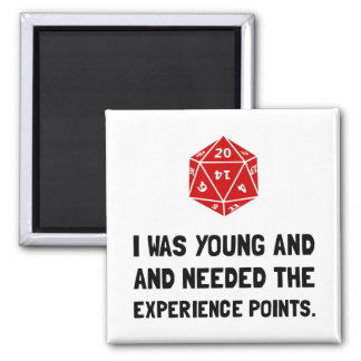Experience Points Square Magnet
