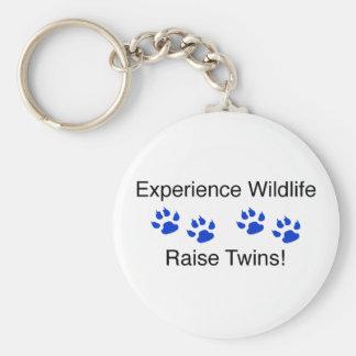 Experience Wildlife Raise Twins Basic Round Button Key Ring