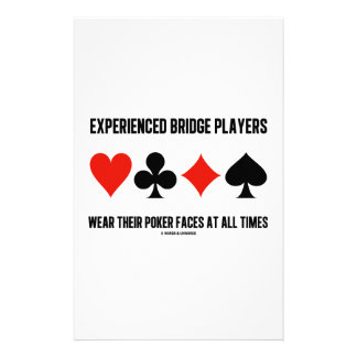 Experienced Bridge Players Wear Their Poker Faces Custom Stationery