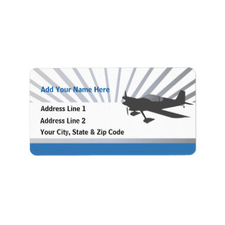 Experimental Aircraft Address Label