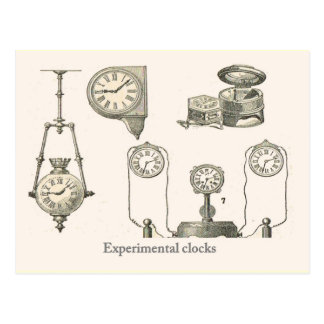 Experimental clocks postcard