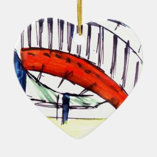 Experimentation of Colour Ceramic Heart Decoration