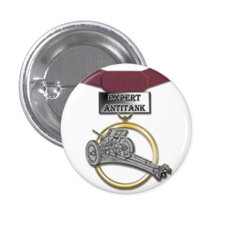 Expert Antitank Gunner medal button