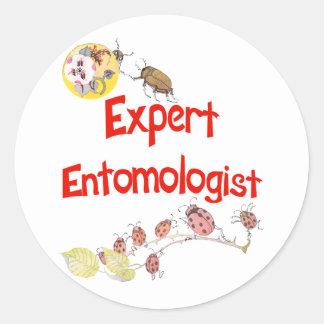 Expert Entomologist Classic Round Sticker