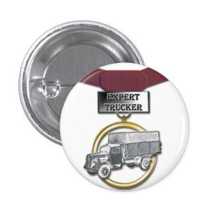 Expert Trucker medal button