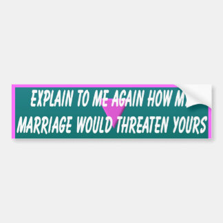 Explain It To Me Bumper Sticker