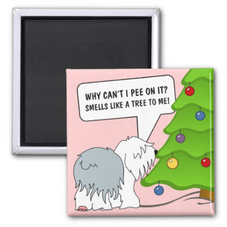 Explain the meaning of Christmas to your dog now! Magnet