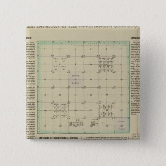 Explanation of Government Surveys 15 Cm Square Badge