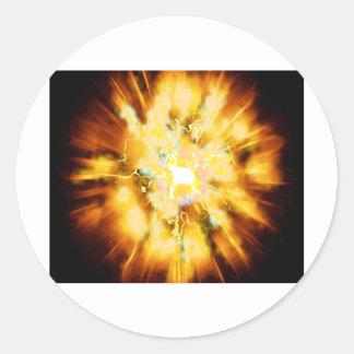 Explode 2 round sticker