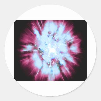 Explode 3 round sticker