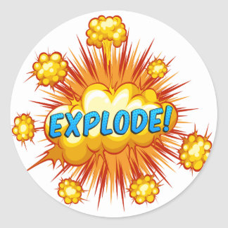 Explode Classic Round Sticker
