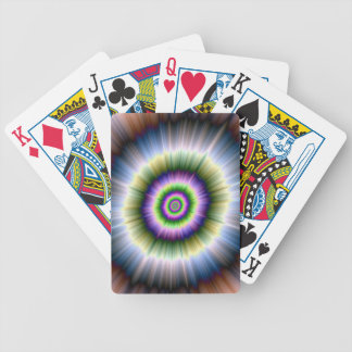 Exploding Blue Green and Pink Bicycle Playing Cards