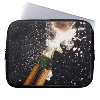 Exploding champagne bottle laptop sleeve