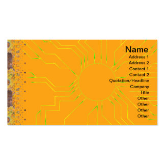 Exploding Clouds Business Cards