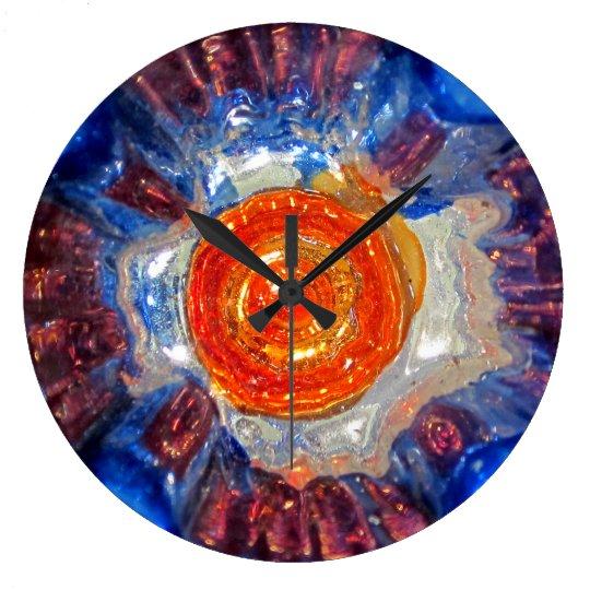 Exploding Cosmos Art Glass - Van Gogh Orange