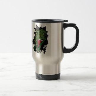 Exploding Dinosaur Stainless Steel Travel Mug