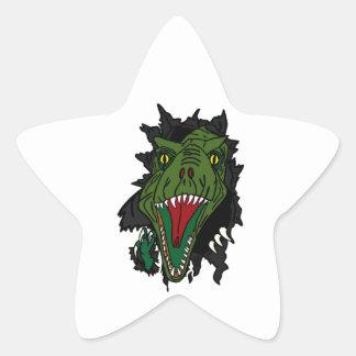 Exploding Dinosaur Star Sticker
