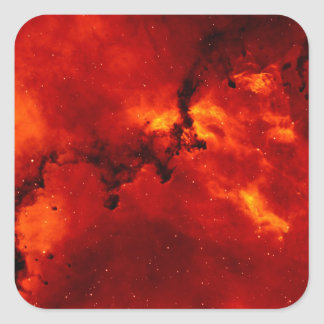 Exploding Galaxy Square Sticker