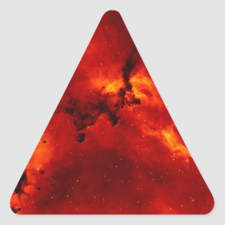 Exploding Galaxy Triangle Stickers