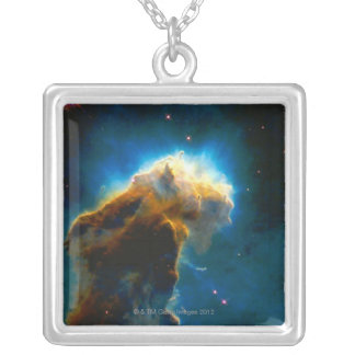 Exploding Gaseous Globule Silver Plated Necklace